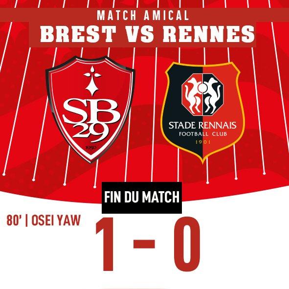Amical : Brest surprend le Stade Rennais