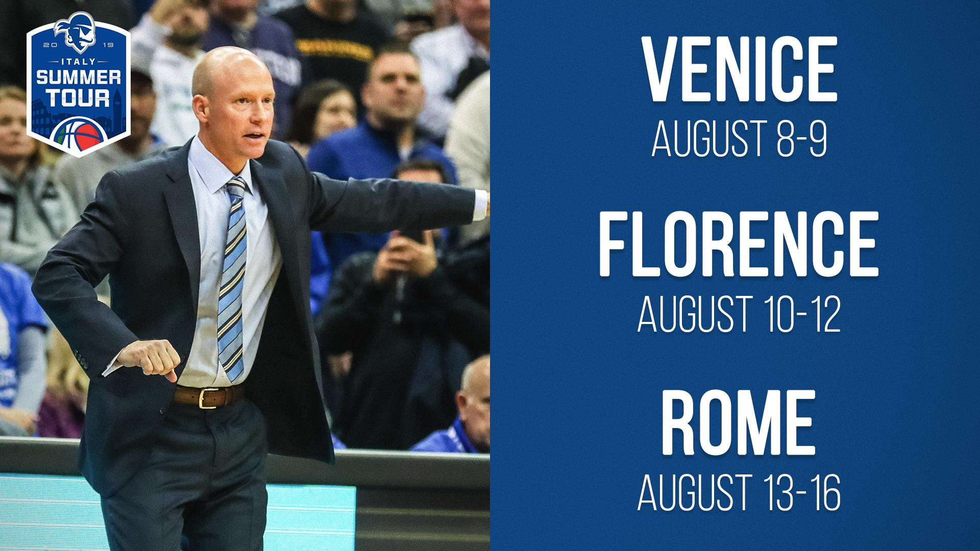Seton Hall Pirates NCAA Basketball: Two weeks from today we'll be jumping on the red eye to Italy! 🇺🇸✈️🇮🇹...