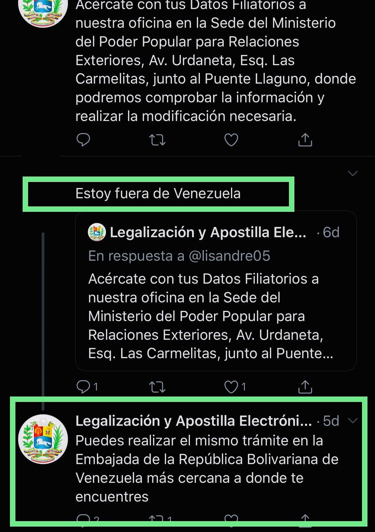 Mccoam Sur Twitter Reseteo De Usuario Apostilla Para Los Que Están Fuera De Venezuela
