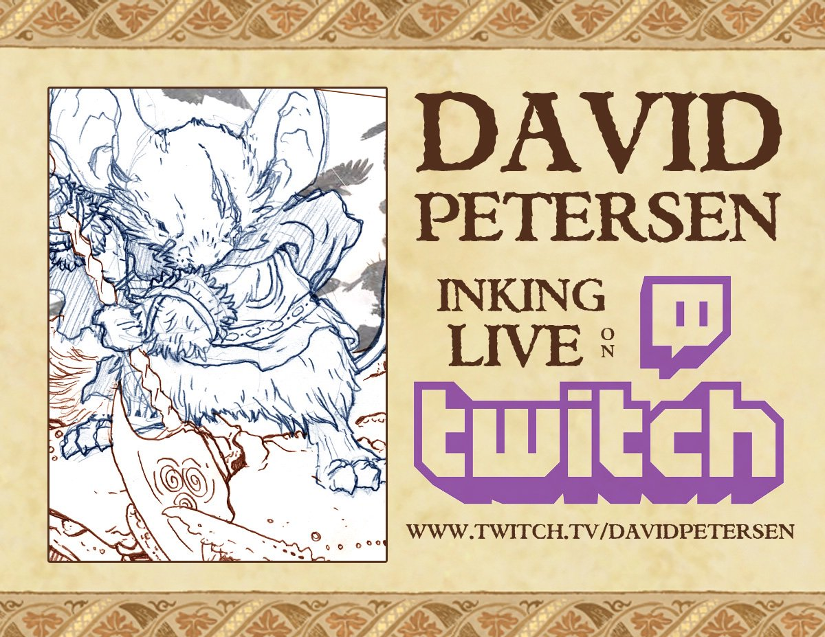 David Petersen SDCC 4901 - @mouseguard Twitter Profile and