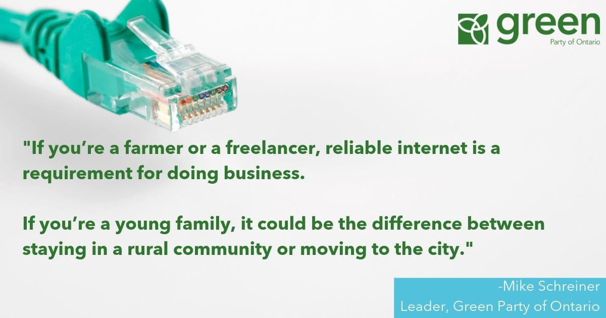 The Premier is spending $100 million per year less on rural broadband than the Liberals budgeted.   Ask any farmer, freelancer or family - improving internet service is essential.  We've got to treat it as a necessity in rural Ontario.   https://bit.ly/2OfbvpM  #onpoli