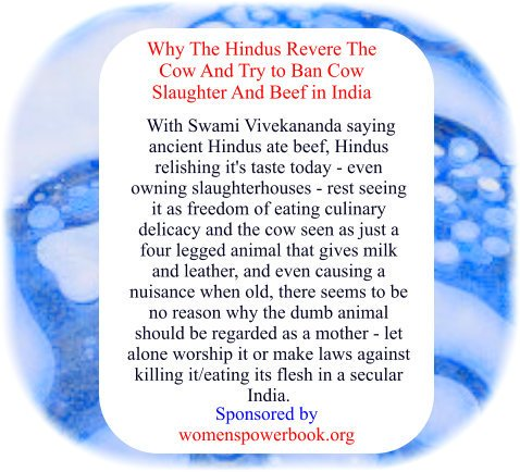 #Thought #Wisdom #FoodWars #MotherNature  airs: Why do Hindus regard #cow as a #mother and #worship it? Why do they want to bring laws to ban beef eating when #beef is enjoyed by so many people?