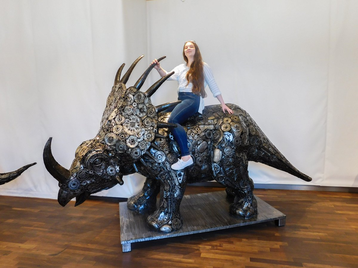 WARNING! VERY DANGEROUS TRICERATOPS RIDER HAS BEEN SPOTTED! 🦕😎 Well look at those two very inteligent people trying to figure out what the heck they should be doing 🤣 I want that home! So pretty! 🤩 When your family is as silly as you are! The best mom in this world! 💕
