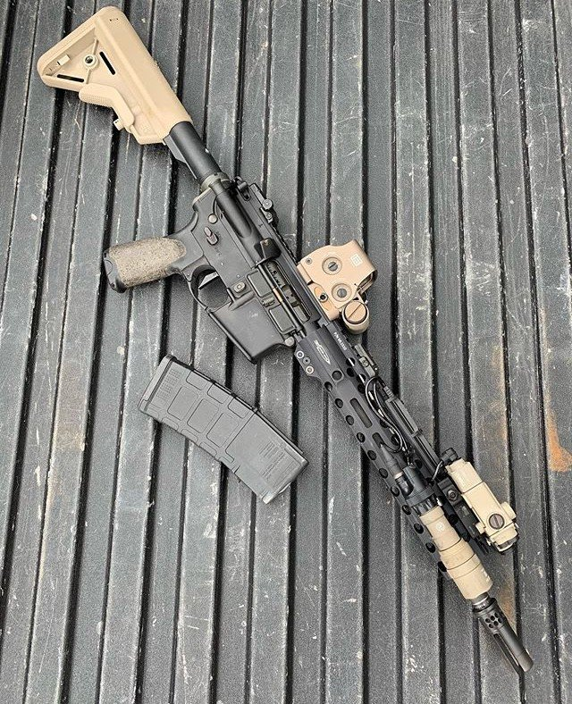 "Tuesday is Monday's ugly sister...but there's nothing ugly about this 12.5"" inch AR from @criterionbarrels   #ar15 #2a #pewpewlife"