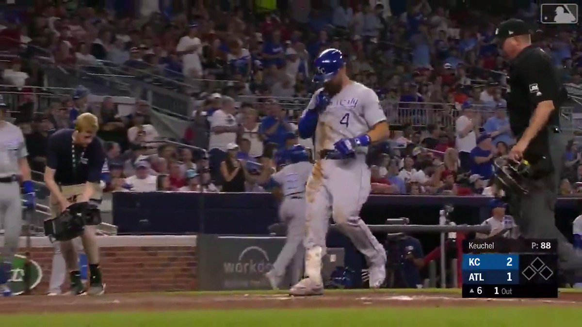 Gordo hit the ball so far it had a layover in Atlanta. ✈️#AlwaysRoyal