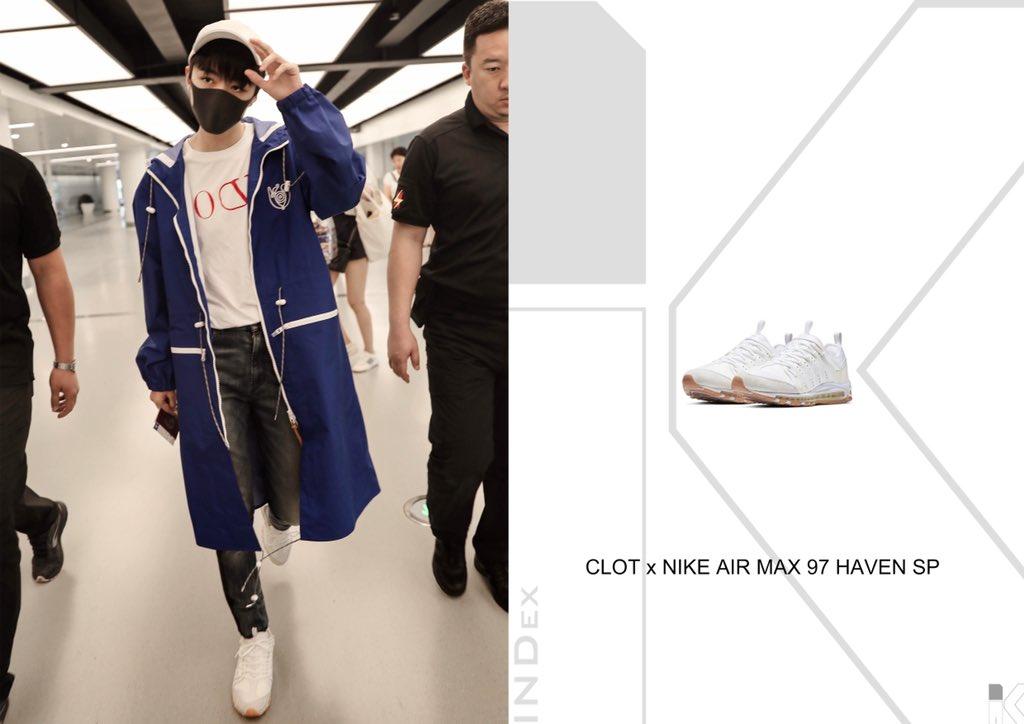 low priced 9c2f1 1aba6 Wang JunKai in CLOT x NIKE AIR MAX 97 HAVEN SP @nike #nike ...