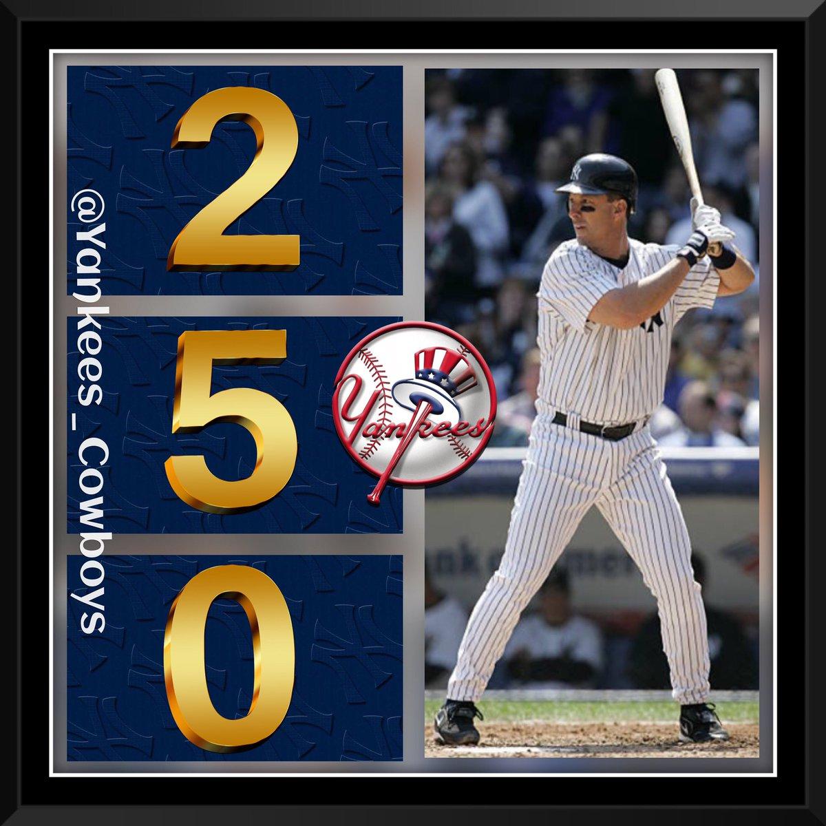OTD in 2001, At @YankeeStadium New York @Yankees 1st basemen Tino Martinez went yard with his 2️⃣5️⃣0️⃣th @MLB career Home Run.   #YankeesHistory #Yankees #TinoMartinez #PinstripePride    #NYY #MLB #NYYankees #BronxBombers #YankeeStadium #ChaseFor28