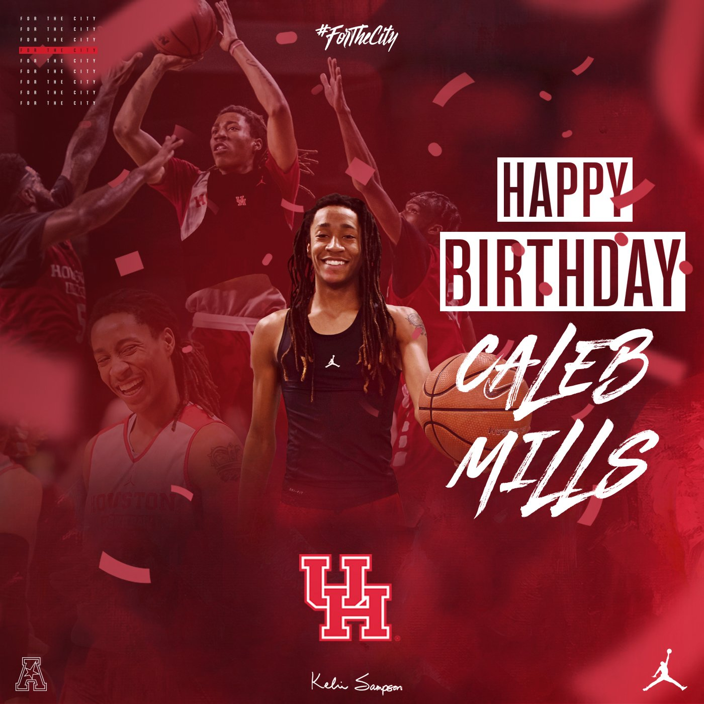 Houston Cougars NCAA Basketball: Join us as we wish HAPPY BIRTHDAY to redshirt freshman guard @calebmills_3   #ForTheCit...