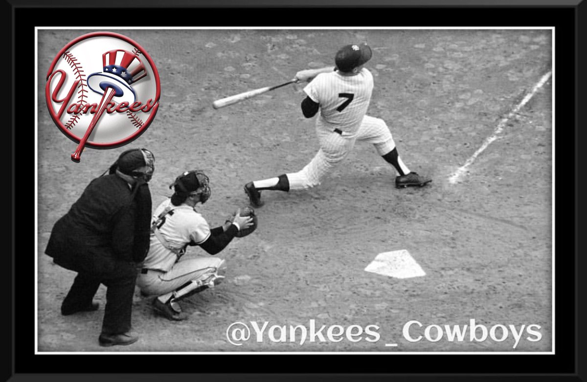 OTD in 1957, New York @Yankees outfielder Mickey Mantle hits for the cycle, and adds a stolen base against Pitcher Bob Keegan.  The Bombers beats the Chicago White Sox 10-6.  #YankeesHistory #Yankees #MickeyMantle #PinstripePride #NYY #MLB #BronxBombers #YankeeStadium #NYYankees
