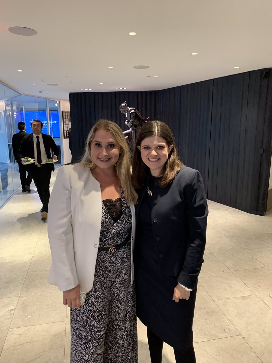 @PrismGrp's Christina Kanmaz was excited to meet fellow #Michigan native @RepHaleyStevens at tonight's @NDN_NPI dinner to discuss #workforce, #innovation, and #USMCA.