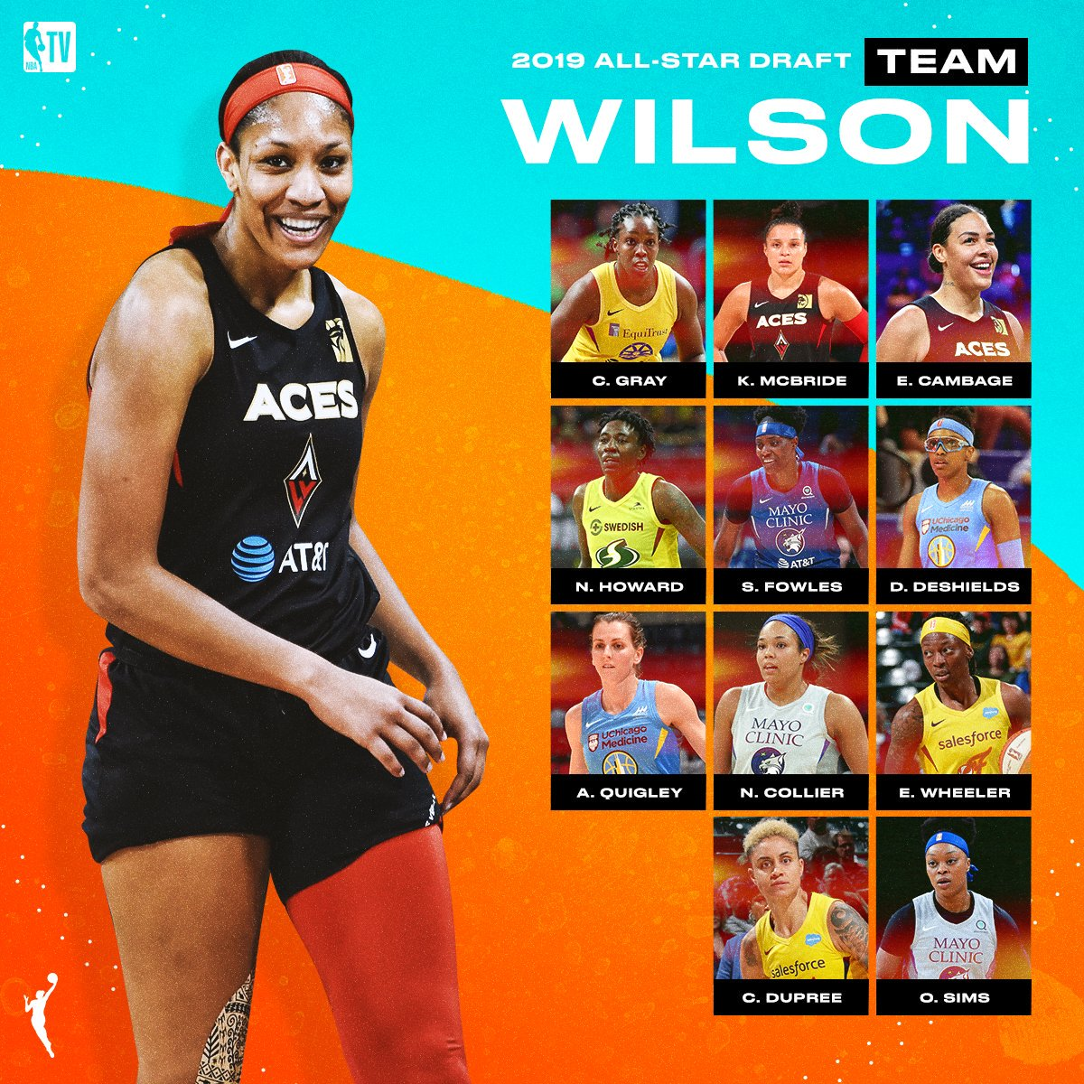 A'ja Wilson's @WNBA All-Star squad is set to shine this weekend in Vegas! ⭐️