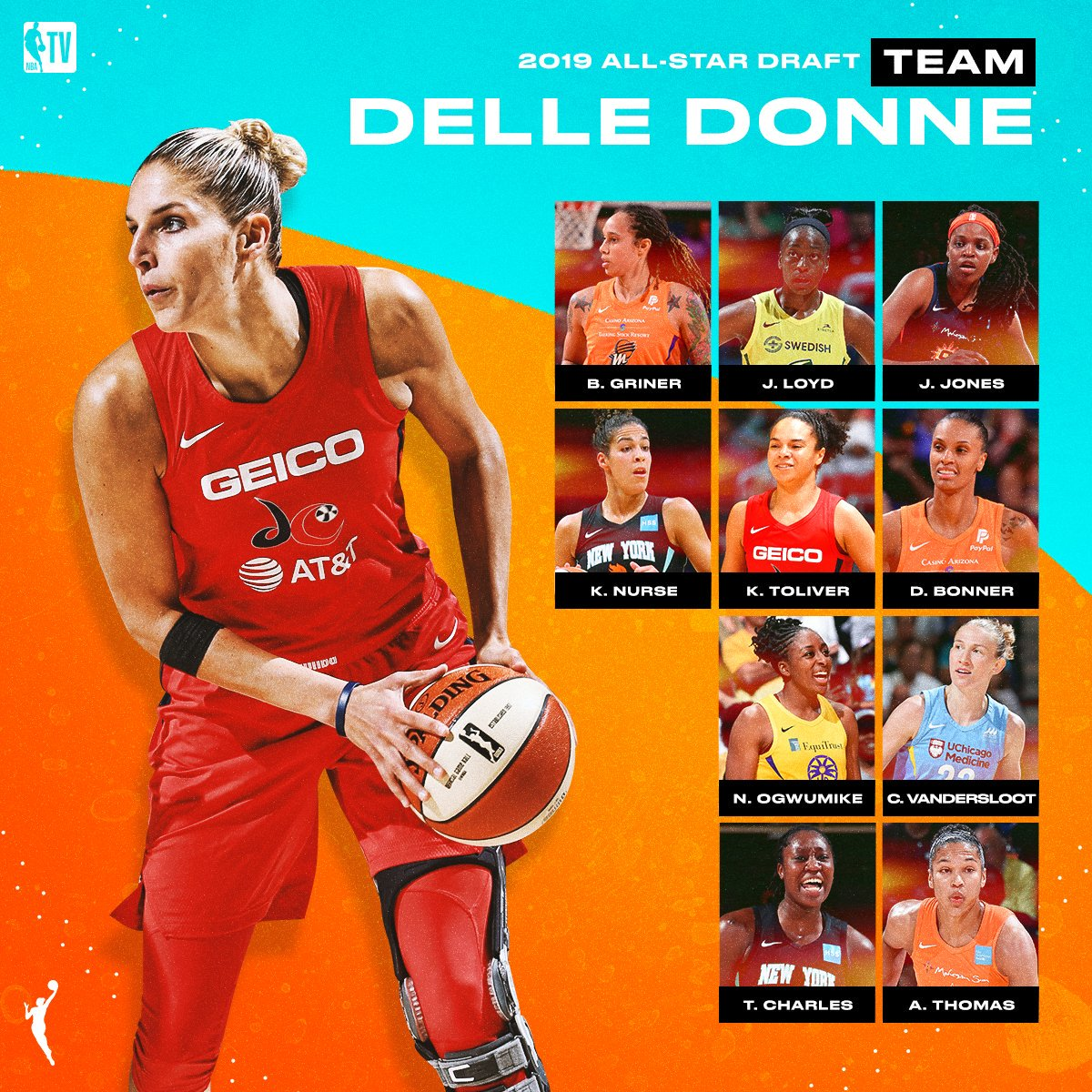 Elena Delle Donne's @WNBA All-Star team is ready to roll! 💪