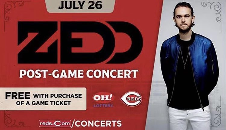 #ZEDD is gonna turn #GreatAmericanBallpark into the biggest club #Cincinnati has ever witnessed.🔥🔥🔥🔥🔥Friday Night @Zedd will be performing after the #REDS game.Shoutout to @ohlottery post game concert series for hooking it up.GET TIXX NOW: http://Reds.com/Concerts