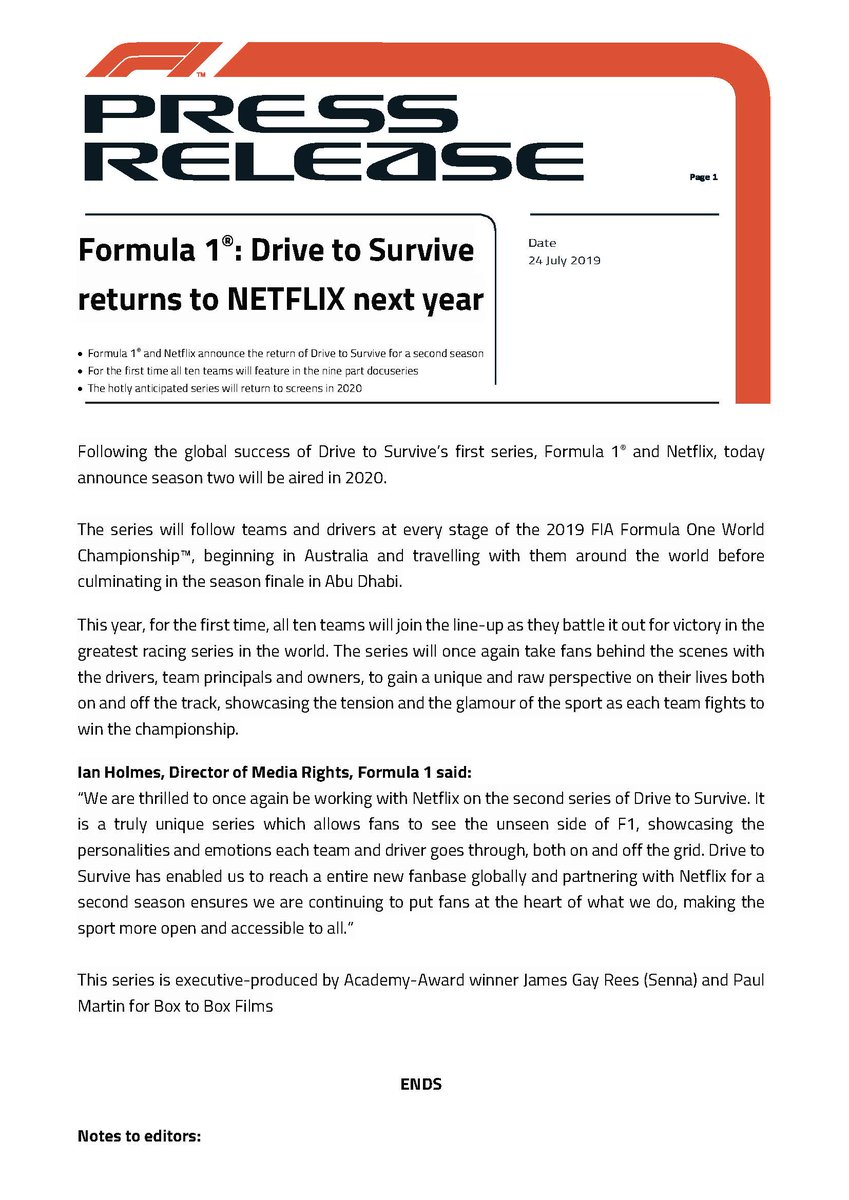F1 Media on Twitter: