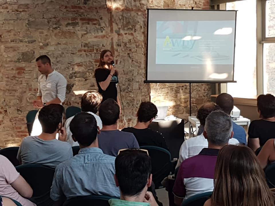 Ecco qualche foto del nostro CTO Gianmarco Leonardo Nicoletti, speaker per il panel di Intelligenza Artificiale allo #StartupGrind Firenze di ieri! #Awhy #AI #Chatbots #conversationalinterfaces https://t.co/2Pbfcne0Xs