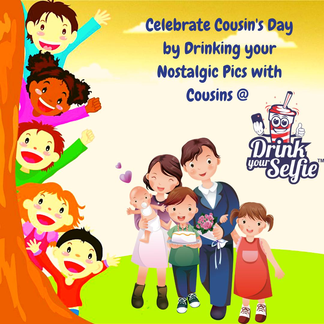 Celebrate Cousin's Day by Drinking your Nostalgic Pics with Cousins at Drink Your Selfie #DrinkYourSelfie #Pune #cousinsday