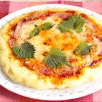 レンジで簡単!?絹豆腐とホットケーキミックスを混ぜて作るもちもちピザ!