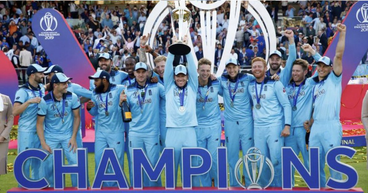 As I'm going to #Lords to see #EngvIre my #ProfilePicOfTheDay is the #England #WorldCup2019 winning team! @benstokes38 @josbuttler @root66 @JasonRoy20 @Eoin16 @JofraArcher @jbairstow21 @chriswoakes @Liam628 @MAWood33 @vincey14 #CricketWorldCupFinal #WednesdayWisdom #Cricket<br>http://pic.twitter.com/BdiGFsfAst