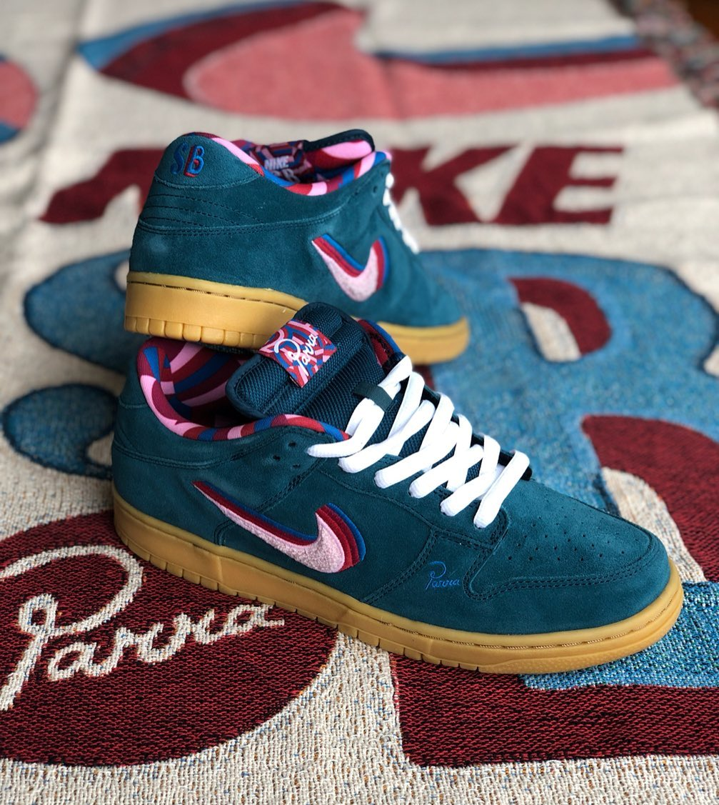 nike sb dunk low parra friends and family