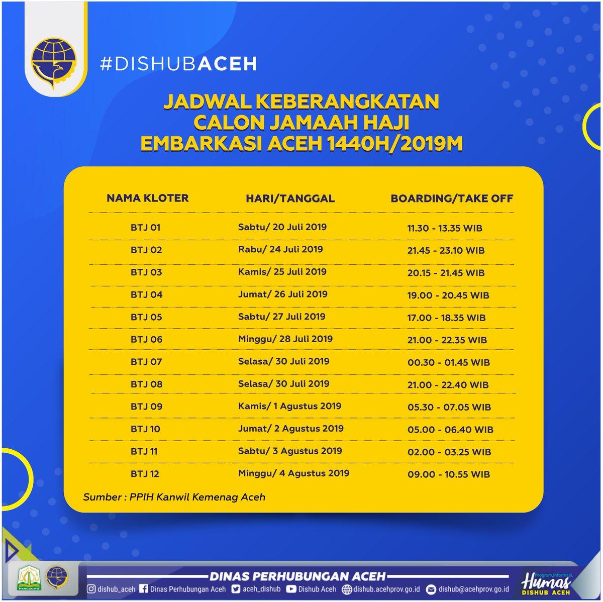Jadwal Keberangkatan Haji 2019 Aceh - Inspirasi Muslim