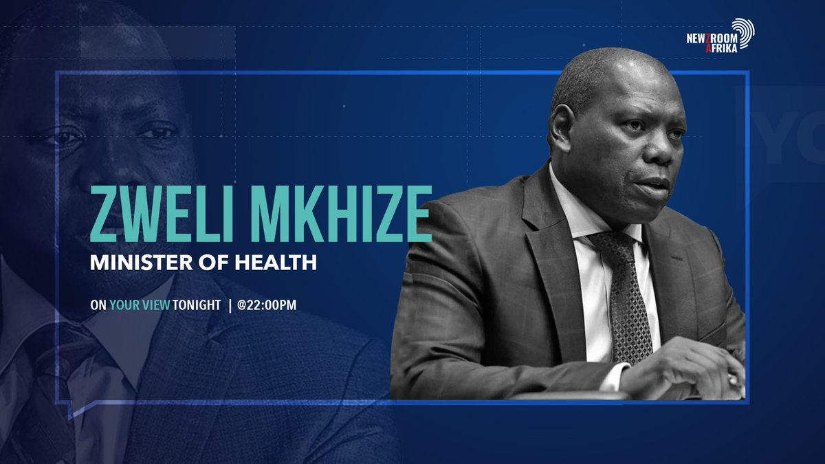 Dr. Zwelini Mkhize joins @JJTabane for newzmaker tonight. He will be speaking frankly about the state of the nation since his appointment as the Minister of Health #YourViewOn405 #Newzroom405 #NewzroomAfrika