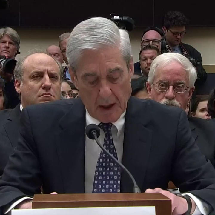 """Robert Mueller: """"Over the course of my career, I have seen a number of challenges to our democracy. The Russia government's effort to interfere in our election is among the most serious...This deserves the attention of every American."""" https://abcn.ws/2XWIELc #MuellerHearings"""