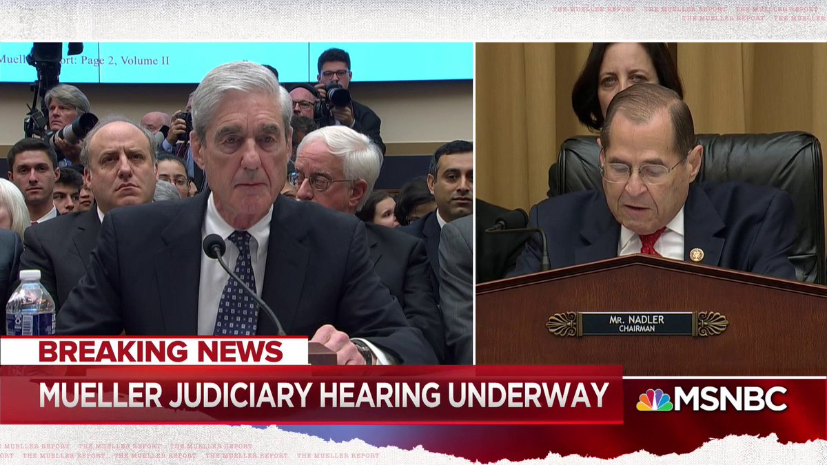 Jerry Nadler: Did you actually totally exonerate the president? Robert Mueller: No.