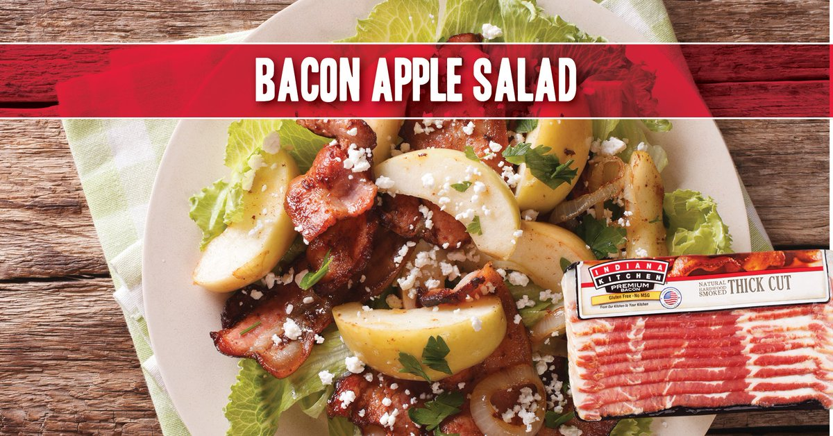 Are any of our fans into a Paleo diet?   Yay or nay, this paleo-friendly salad is filling and delicious, featuring Indiana Kitchen Bacon, Granny Smith Apples, just a sprinkle of Manchego Cheese and an Apple Cider Vinaigrette.  G ... https://t.co/AhHnMUSh2f https://t.co/czzcyj4KoI https://t.co/d7I84OX2Lj