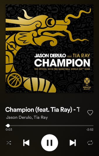 On repeat until the FIBA World Cup! Check out @jasonderulo and @tiaray here: https://wma.lnk.to/jd_FIBA #TheWorldGotGame #FIBAWC