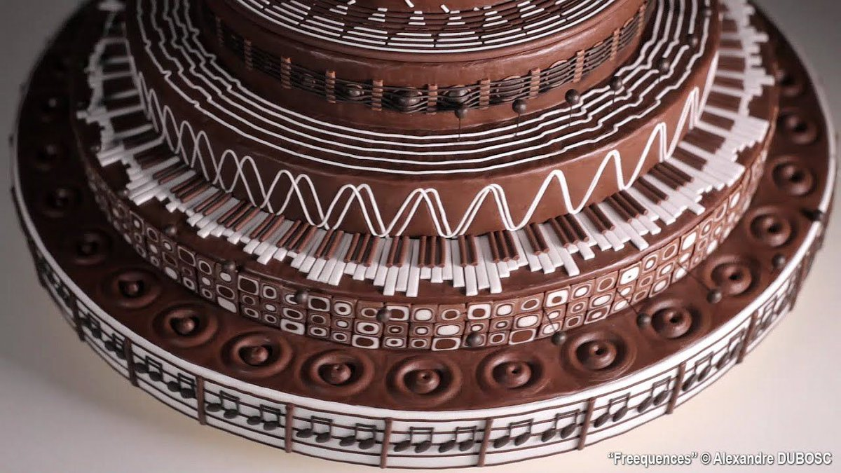 Freequencies, A Musically Themed Spinning Chocolate Cake Zoëtrope by Alexandre Dubosc https://t.co/iB3rnFyST0 https://t.co/gWJgPelsq7