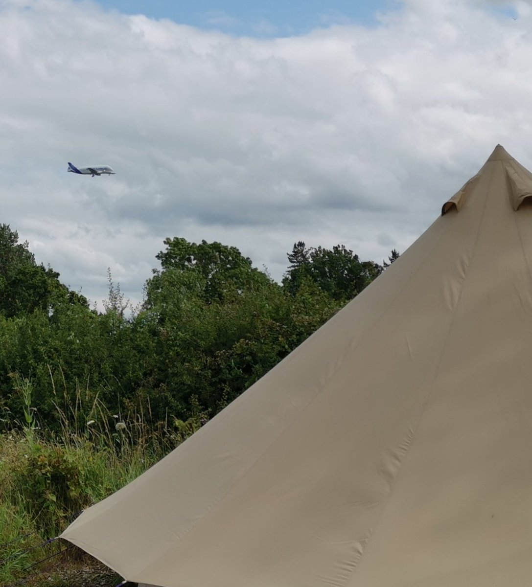 Spotted the Beluga XL landing at Chester Hawarden whilst glamping at the weekend. Makes an incredible roar #planespottinglive