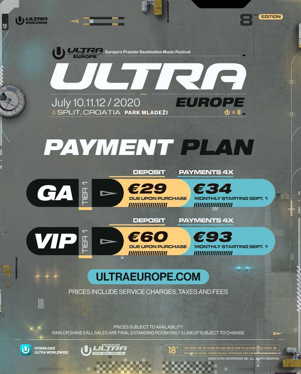 2020 Ultra Europe tickets