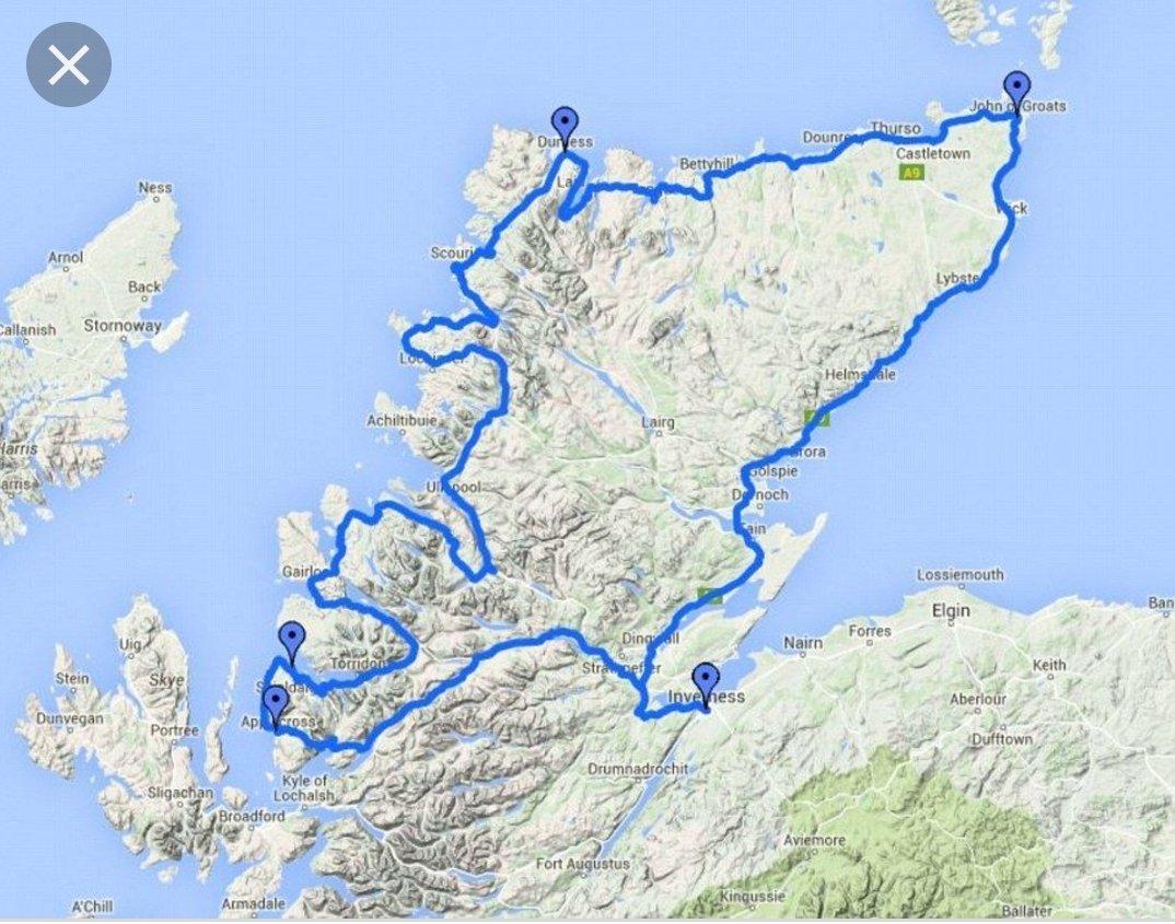 About to head to Scotland to begin the North Coast 500. Woo hoo! #teacher5aday #livewellteachwell