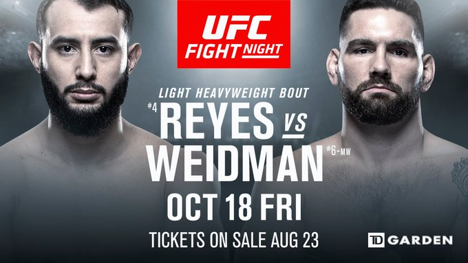 New school meets old school!  🇺🇸 @ChrisWeidman makes his LHW debut in the main event of #UFCB