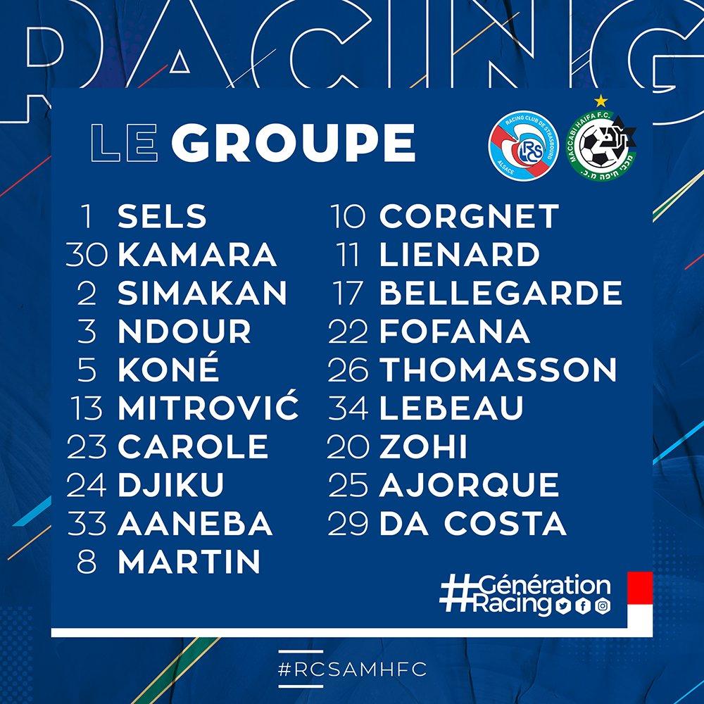 Strasbourg : le groupe contre le Maccabi sans Kenny Lala