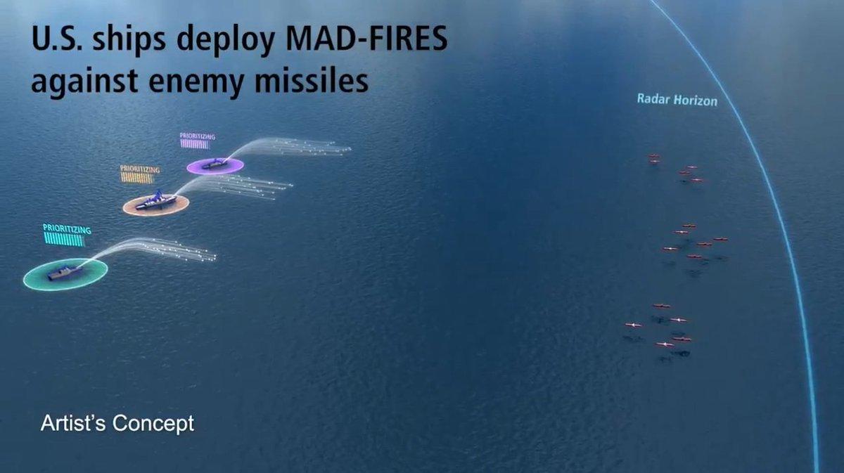 تعرف على MAD-FIRES : نظام الاعتراض الجديد من DARPA و Raytheon للبحريه الامريكيه  EAQmmk0UIAE7lYs