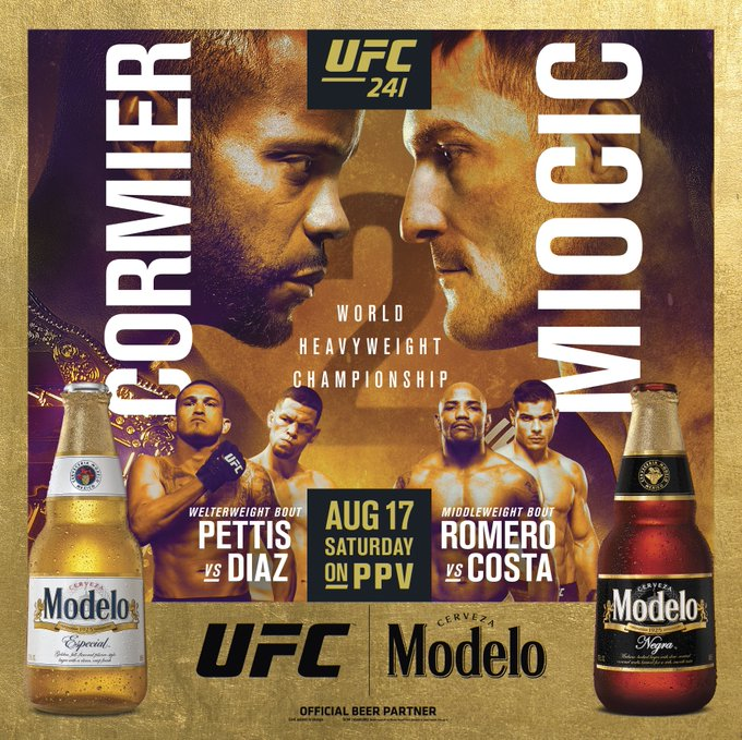 Denver, LA, NY, and PHX fans!  Enter to win tickets to the Ultimate UFC Viewing Party for #UFC241 in your city by texting MODELOPHX, MODELODEN, MODELONY, or MODELOLA to 55755.  Must be 21+ to enter. Drink Responsibly. #ModeloUFC