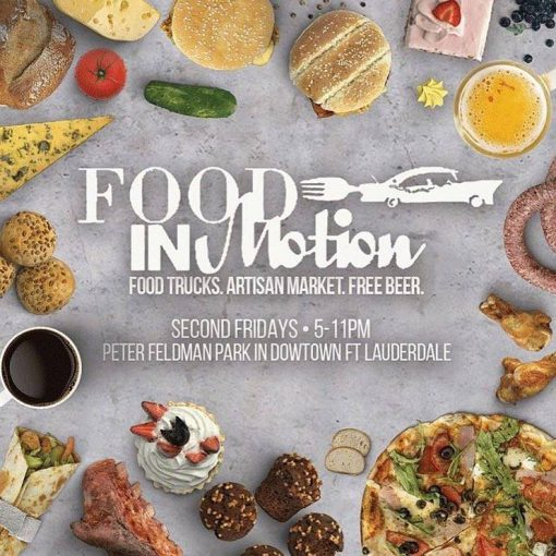 Come on down to Peter Feldman Park on August 9, 2019, from 5-11pm for #FoodInMotion, featuring food trucks, an artisan market, and free #beer! All ages and pets are welcome.  https://bit.ly/2H7U3g7 #foodie #VisitLauderdale #FortLauderdaleGrandHotelpic.twitter.com/Iv5uyQYclU