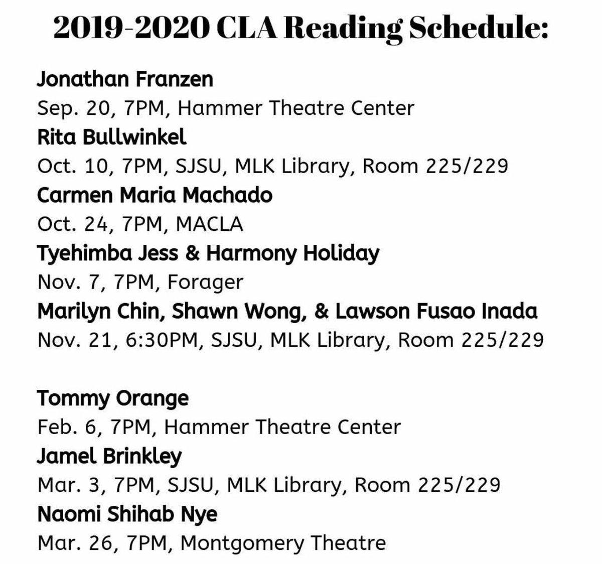 The Center for Literary Arts of San José (@CLA_SanJose