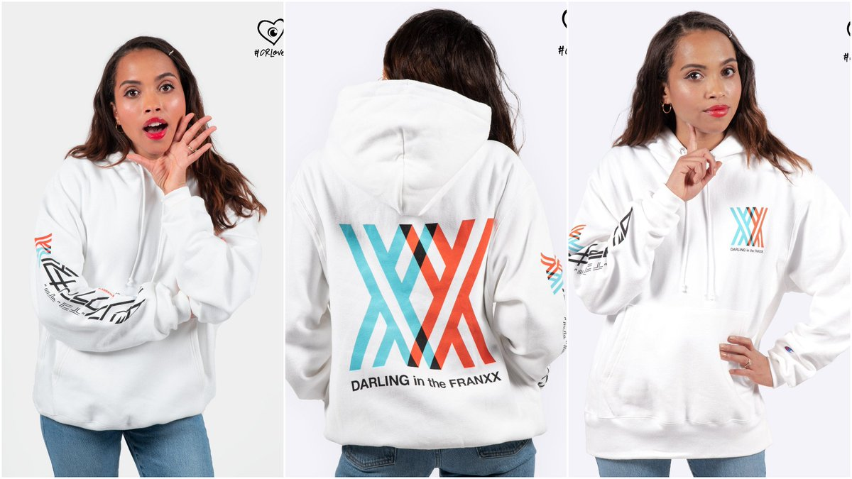 "Crunchyroll Store on Twitter: ""Because we love y'all SO much, we're  re-releasing the DARLING in the FRANXX 002 Champion Hoodie for ‼️ TWO DAYS  ONLY ‼️ Pre-order yours TODAY here: https://t.co/pPcVkSnfOv…  https://t.co/DbMykd2ZQd"""