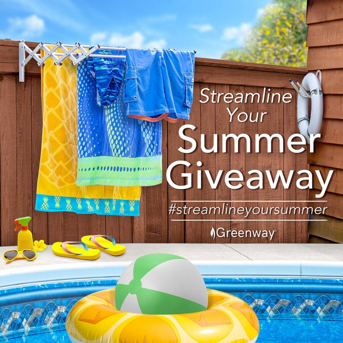 The window is closing on your chance to #streamlineyoursummer with the GCL31AL Greenway Indoor/Outdoor Foldable Drying Rack, with Optional Wall-Mount. Be sure to enter here: https://t.co/zTomZtpWQZ https://t.co/uGYd218Yxd