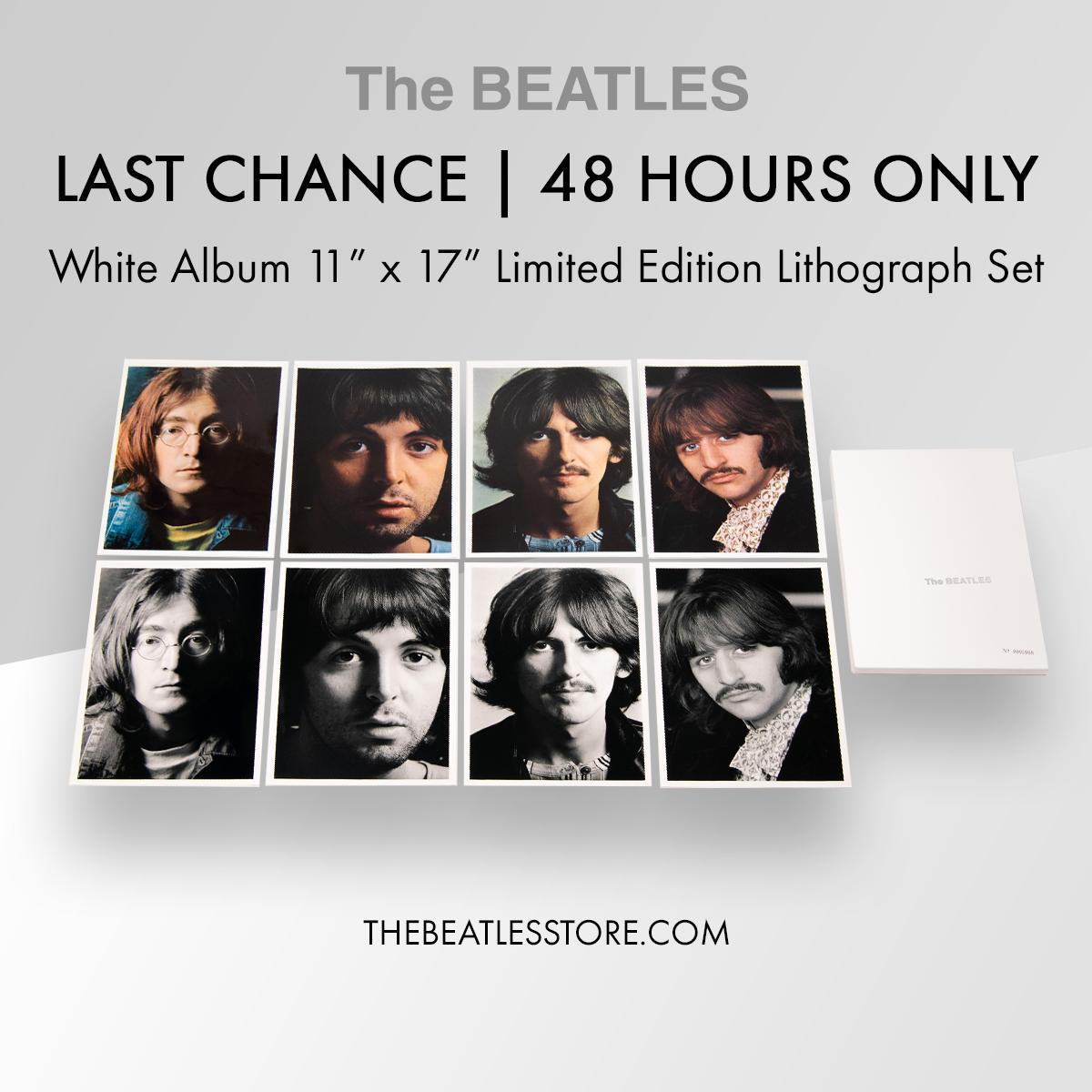 the beatles (white album) limited edition exclusive 50th anniversary litho set