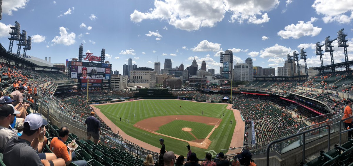 Work outing to the Detroit Tigers game ⚾️Gorgeous day for baseball!
