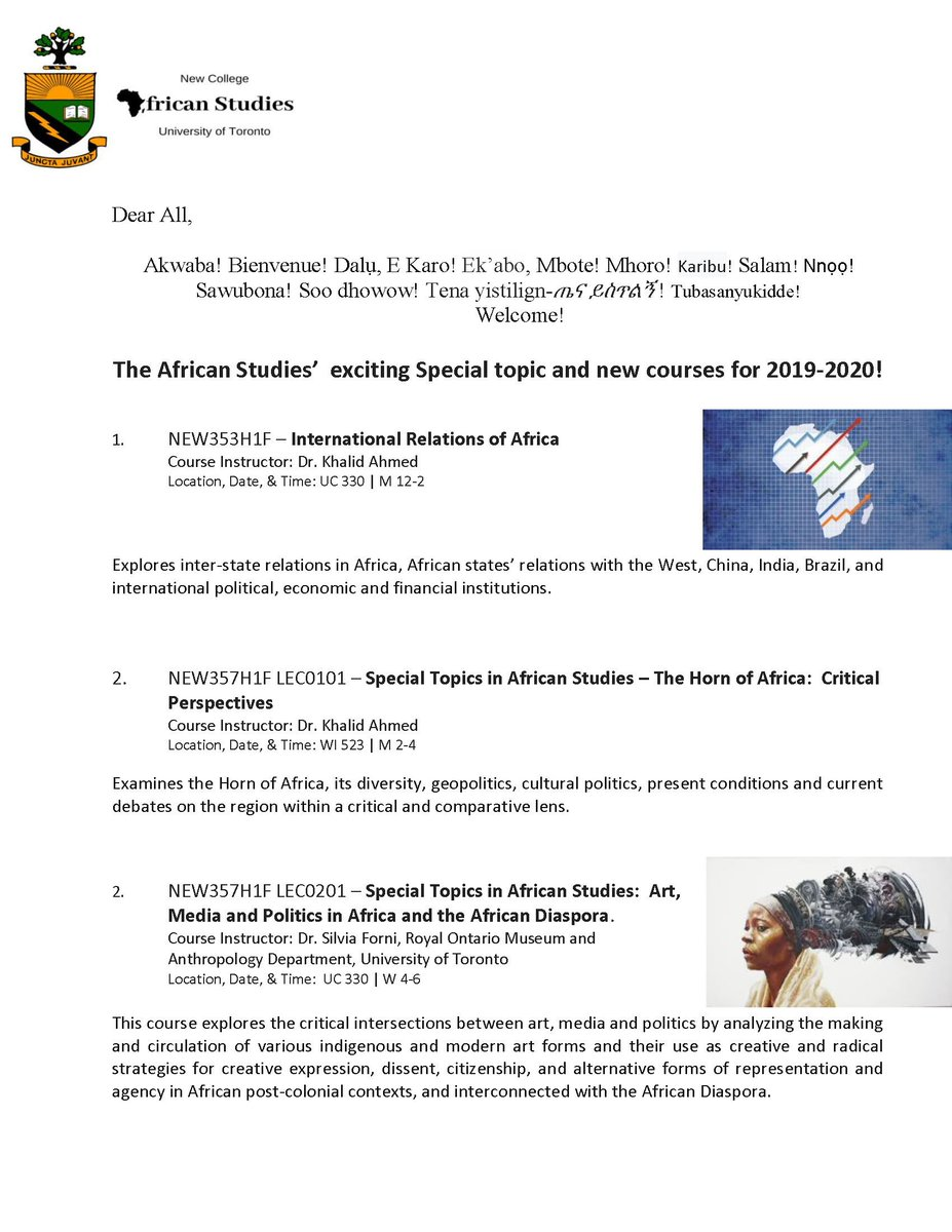 African Studies Course Union (@UofTASCU)   Twitter