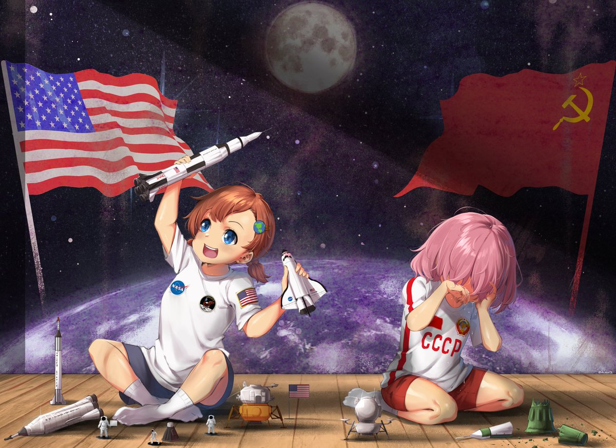 """""""First to the Moon"""" Consider support me on @Patreon ->  http://www. patreon.com/lulu_chan92      #Apollo50th #apollo11anniversary #Apollo11<br>http://pic.twitter.com/35uU44CZsN"""