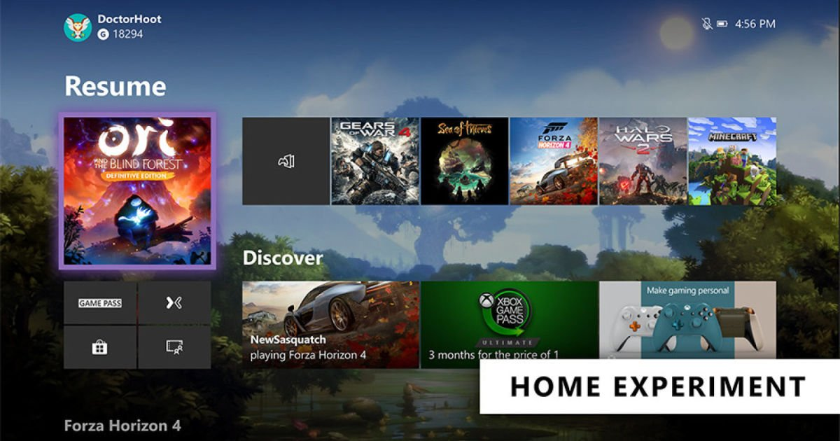 Microsoft tests a cleaner Xbox One Home screen (again)