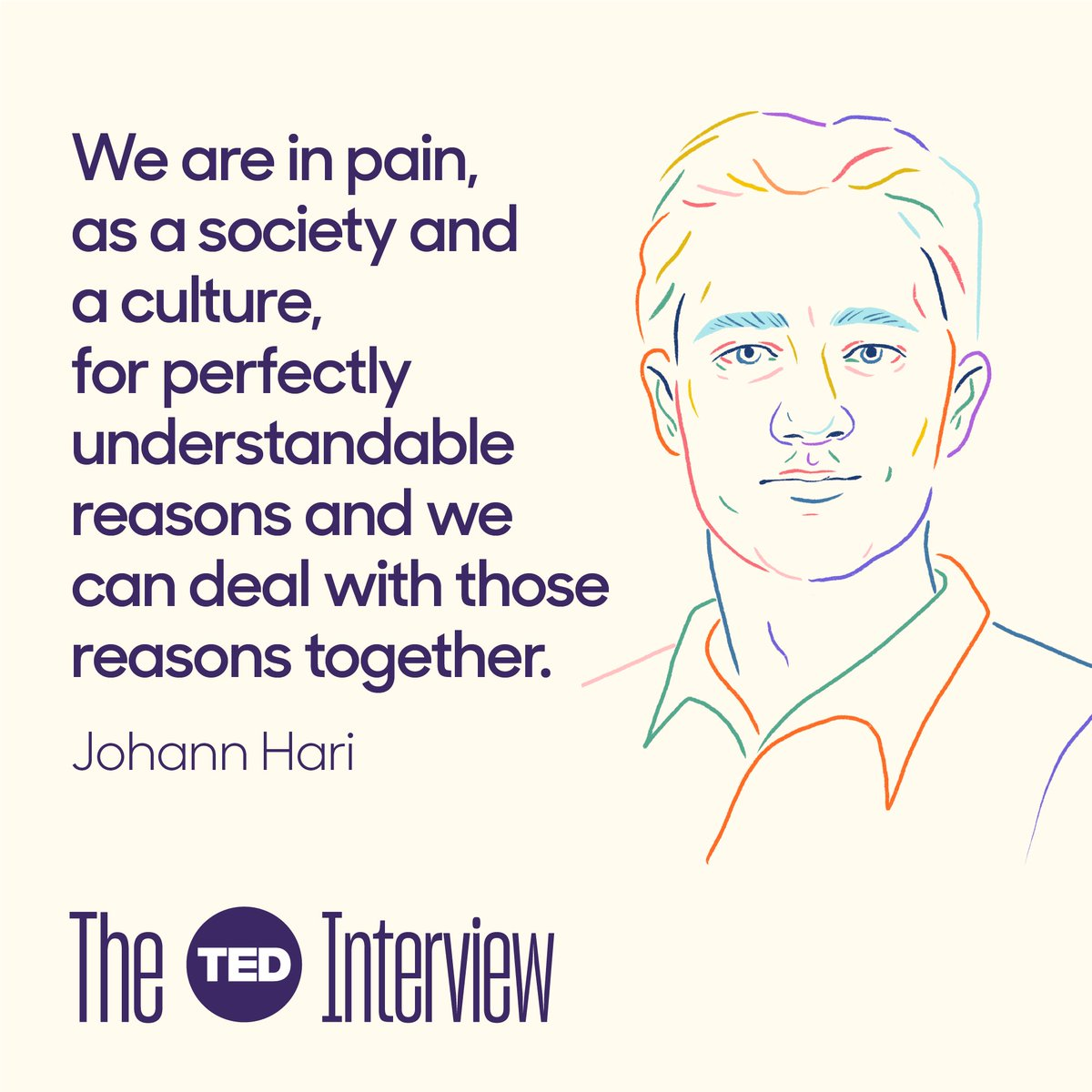 A new episode of #theTEDinterview podcast packed with insightful thinking about depression ...and happiness!