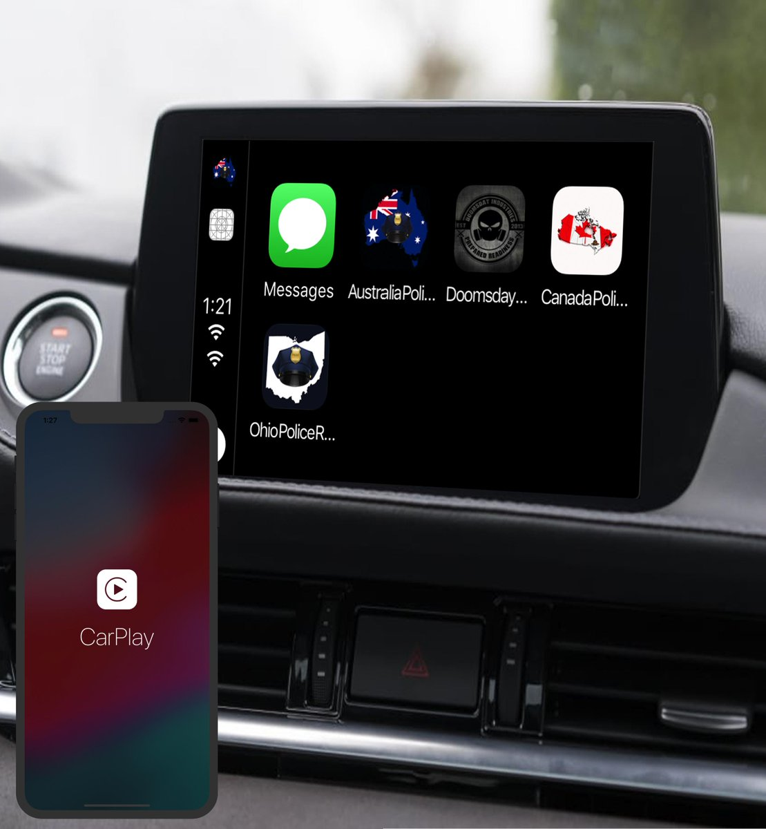 Madison : Carplay apps australia