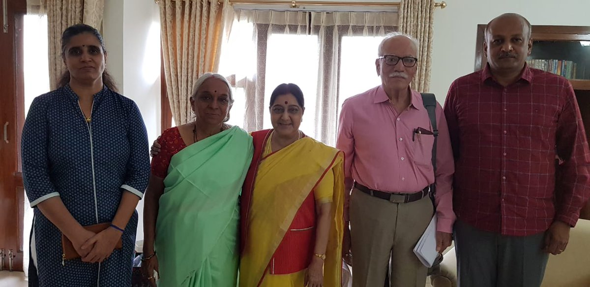Kulbhushan Jadhav's family came to see me today. I wish them all the best.