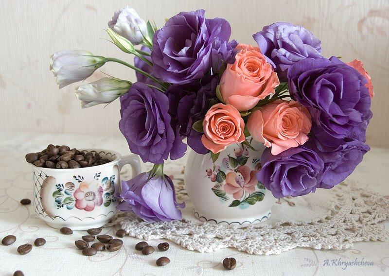 Открытка с цветами доброе утро хорошего дня, новогодние открытки